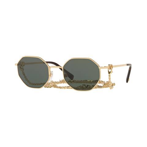 Valentino VA2040 300271 52 Gold Woman Irregular Sunglasses