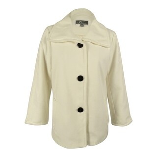 JM Collection Women's Wing-Collar Coat