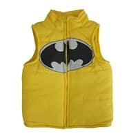 DC Comics Little Boys Yellow Batman Logo Design Sleeveless Vest 2-4T
