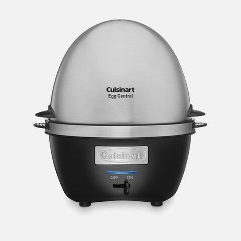 Cuisinart CEC-10FR egg Central Egg Cooker, Silver & Black, Certified Refurbished