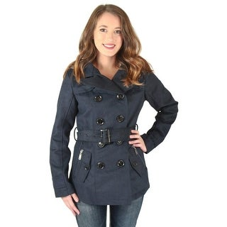 Urban Republic Womens Juniors Pea Coat Solid Long Sleeves