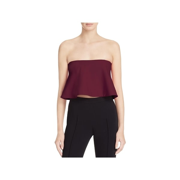 Likely Womens Tearose Crop Top Strapless Peplum