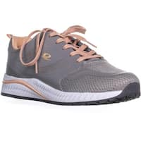 Easy Spirit Hugs Lace Up Round Toe Sneakers, Light Gray - 8 w us