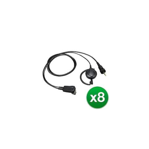 Kenwood EMC14W CRing ear hanger with PTT hand mic (8-Pack) Kenwood EMC-14W C-Ring ear hanger with PTT hand mic