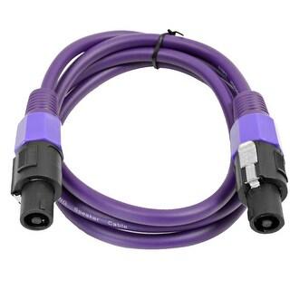 SEISMIC AUDIO 12 Gauge 5 Foot Purple Speakon to Speakon Speaker Cable 5'