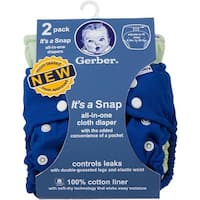 Gerber 2 Piece It's a Snap All-in-One Cloth Diaper