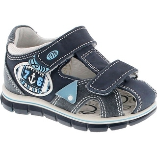 Primigi Boys 7566 European Leather Sandals With Supported Closed Back And Protective Toe
