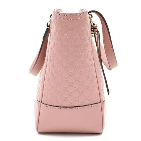 Gucci Micro GG Calf Leather Soft Pink Crossbody Bag 449241