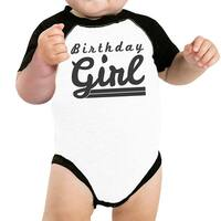 Baby Girl Baseball Bodysuit Cute Black Sleeve Baby Raglan Tee Gifts