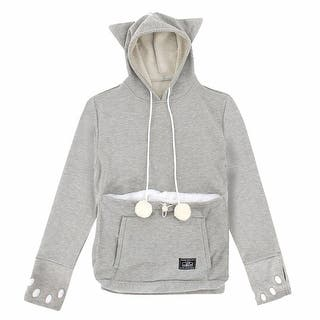 Women's Mewgaroo Pet Holder Hoodie - Cat Ear Hooded Sweatshirt - Gray or Black|https://ak1.ostkcdn.com/images/products/is/images/direct/66286c945c4182cc9bb0f1f7023f74575fc18eb9/Women%27s-Mewgaroo-Pet-Holder-Hoodie---Cat-Ear-Hooded-Sweatshirt---Gray-Or-Black.jpg?impolicy=medium