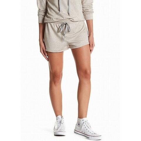 Socialite Gray Womens Drawstring Heathered Shorts