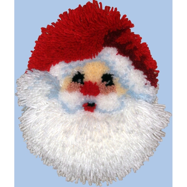 "Shaped Latch Hook Kit 11""X12""-Santa Face"
