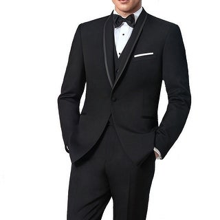 Ike Behar Black Waiverly Slim Fit Tuxedo