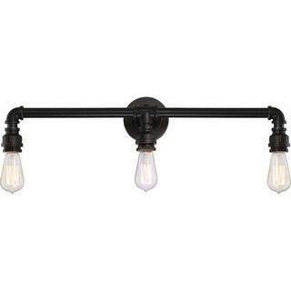 "Nuvo Lighting 60/5793 Iron 3-Light 24-1/2"" Wide Bathroom Vanity Light - industrial bronze - n/a"