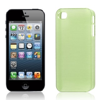Unique Bargains Hard Back Cover Shell Light Green for Apple iPhone 5 5S 5th