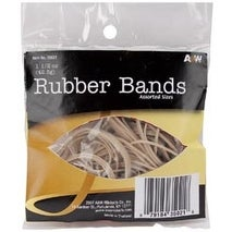 Tan - Assorted Sizes - Rubber Bands 1.5Oz