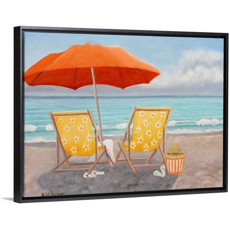 Black Float Frame Canvas Art