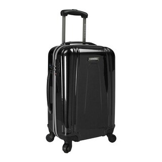 """US Traveler 22"""" USB Port EZ-Charge Carry-On Spinner Black - US One Size (Size None)"""