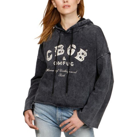 Lucky Brand Womens Born Lucky Hoodie Cotton Graphic - XL