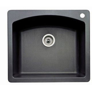 "Blanco 440210 Diamond Single Basin Silgranit II Kitchen Sink 25"" x 22"""