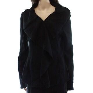 Blanc Noir NEW Black Solid Women's Size Medium M Full Zip Jacket