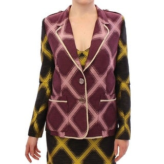 House of Holland Purple checkered blazer jacket