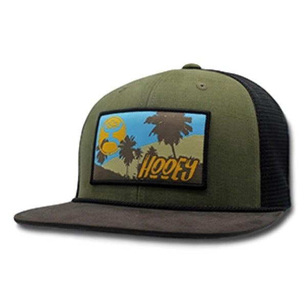 online store bdb7a ce4d2 ... closeout hooey hat mens trucker vegas snapback mesh one size green  black 2acd7 291be