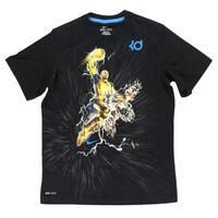 Nike Boys Kevin Durant Hero T Shirt Black - black/gold/blue - s