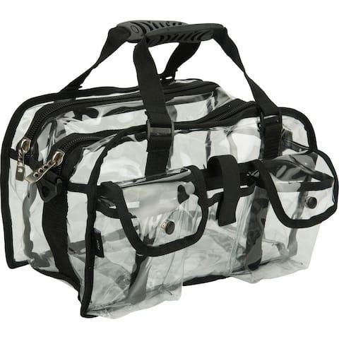 Casemetic Clear Set Bag Double Storage Compartment 3 External Pockets and Shoulder Strap