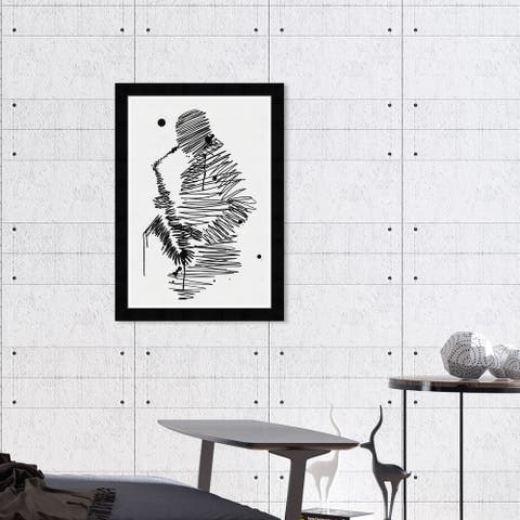 Hatcher & Ethan 'One Man Band' Wall Art Framed Print - Black, White