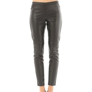 Michael Kors NEW Black Women's Size 16X29 Faux Leather Dress Pants