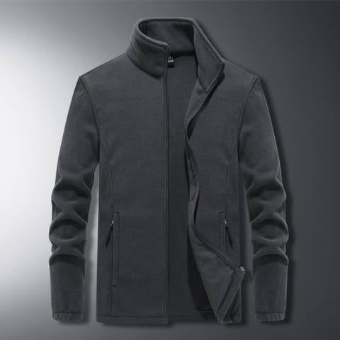 Men's Plus Size Stand Collar Loose Jacket