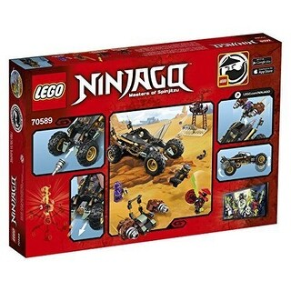 LEGO Ninjago 70589 BUILDING KIT, Rock Roader 4 Minifigures Kids LEGO SET - Black