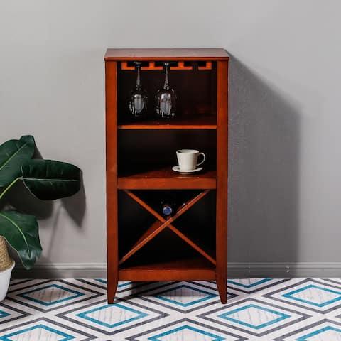 Walnut Finish Wine Cabinet
