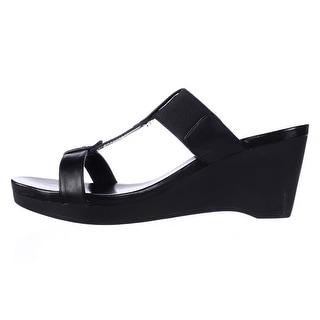 Ralph Lauren Womens Rue Leather Open Toe Casual Platform Sandals