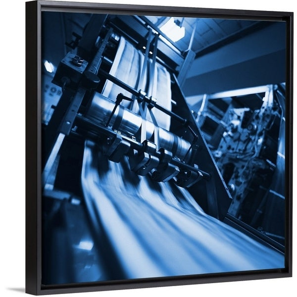 Shop View of a working printing machine in a printing press - Multi