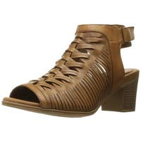 Rockport Womens Hattie Braid Leather Open Toe Special Occasion Slingback Sand...