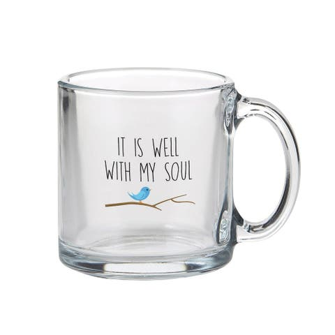 """3.5"""" """"It is Well with My Soul"""" Clear Statement Mug - 3.5"""" high"""