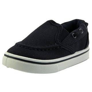 Rockland Melvin Infant Moc Toe Synthetic Blue Boat Shoe