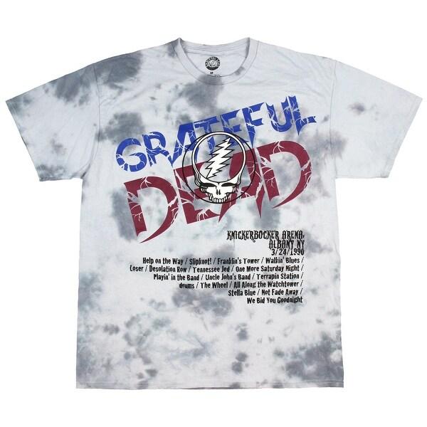 0651950cbbc0 Shop Grateful Dead Shirt Adult Men's Tie-Dye 1990 Spring Tour Albany ...