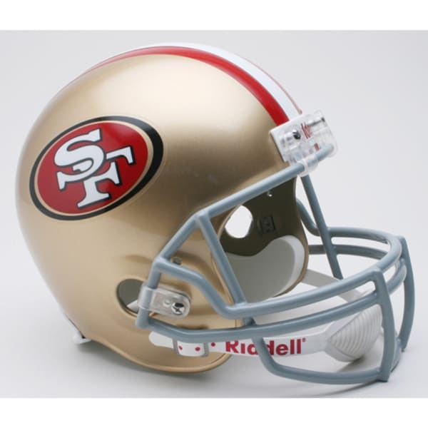 f195b9d90 Shop San Francisco 49ers Riddell Deluxe Replica Helmet - Free Shipping  Today - Overstock - 22202856