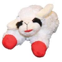 "MultiPet 48372 Lamb Plush Chop Dog Toy, White, Small, 6"""