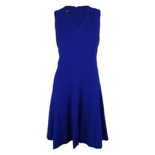 Nine West Women's Sleeveless V-Neck Dress (Option: 8 - Pink Lady)
