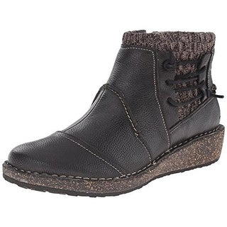 Aetrex Womens Tessa Leather Mixed Media Booties - 35 medium (b,m)