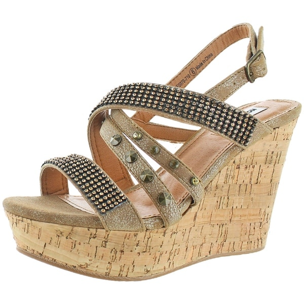 Not Rated Viti Women's Embellished Wedge Sandal Shoe
