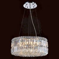 """Worldwide Lighting W83501C20 Cascade 12 Light 1 Tier 20"""" Chrome Chandelier with Clear Crystals"""