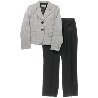 Le Suit Womens Petites Tweed 2PC Pant Suit - 2p