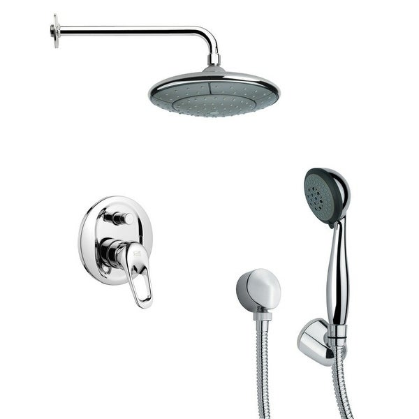 Nameeks SFH6030 Remer 2.5 GPM Round Single Function Rain Shower Head with Hand Shower - Chrome