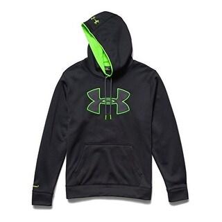 Under Armour 1259632-001 Fleece Storm Big Logo Hoody - Black/Hyper Green - Large