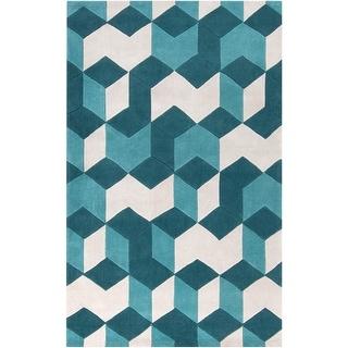 Hand-Tufted Beecher Contemporary Geometric Area Rug
